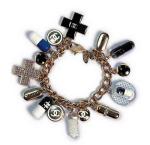 chanel pill charm bracelet